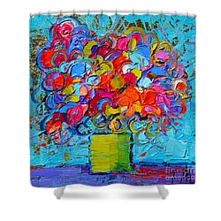 Floral Miniature - Abstract 0415 Shower Curtain