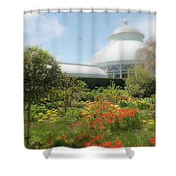 Shower Curtain featuring the photograph Floral Notes by Diana Angstadt