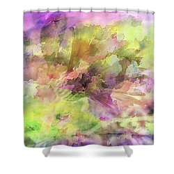 Floral Pastel Abstract Shower Curtain by Mikki Cucuzzo