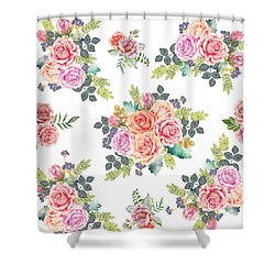 Floral Pattern 4 Shower Curtain by Stanley Wong