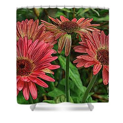 Shower Curtain featuring the photograph Floral Pink by Deborah Benoit