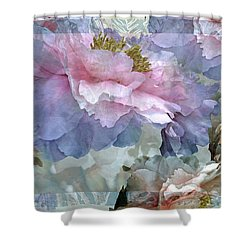 Floral Potpourri With Peonies 24 Shower Curtain by Lynda Lehmann