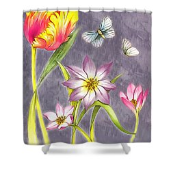 Floral Supreme Shower Curtain by Mario Carini