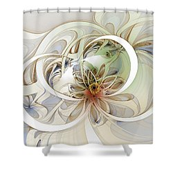 Floral Swirls Shower Curtain by Amanda Moore