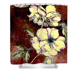 Floral Watercolor Painting Shower Curtain