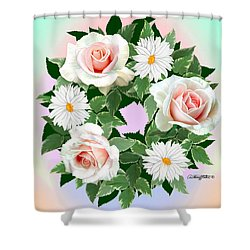 Floral Wreath Shower Curtain