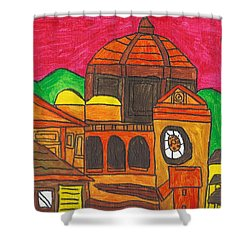 Shower Curtain featuring the painting Florence by Artists With Autism Inc