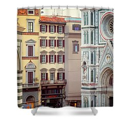 Shower Curtain featuring the photograph Florence Italy View by Joan Carroll