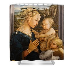 Florence - Madonna And Child With Angels- Filippo Lippi Shower Curtain