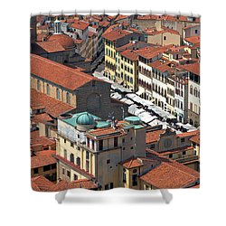 Florence Rooftops Shower Curtain