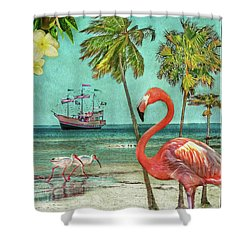 Shower Curtain featuring the photograph Florida Advertisement by Hanny Heim