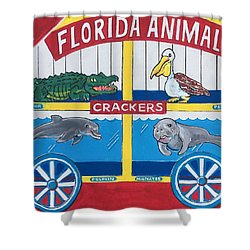 Florida Animal Crackers Shower Curtain