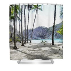 Florida Beach Shower Curtain by Murphy Elliott