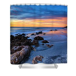 Florida Beach Sunset 3 Shower Curtain