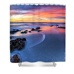 Florida Beach Sunset 4 Shower Curtain