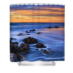 Florida Beach Sunset Shower Curtain