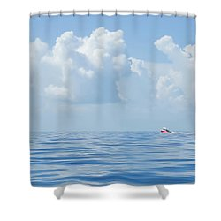 Florida Keys Clouds And Ocean Shower Curtain
