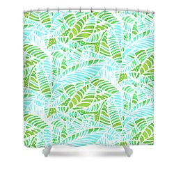 Florida Keys Leaves Shower Curtain