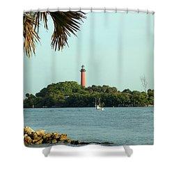 Florida Lighthouse 3 Shower Curtain
