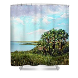 Florida Palms Shower Curtain