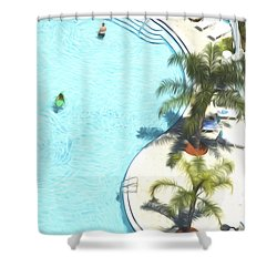 Florida Pool 33 Shower Curtain