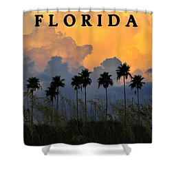 Florida Poster Shower Curtain by David Lee Thompson