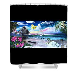Florida Room Shower Curtain