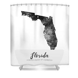 Florida State Map Art - Grunge Silhouette Shower Curtain