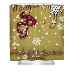Florida State Seminoles Christmas Card 2 Shower Curtain by Joe Hamilton