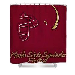 Florida State Seminoles Helmet Shower Curtain by Joe Hamilton