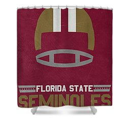Florida State Seminoles Vintage Football Art Shower Curtain by Joe Hamilton