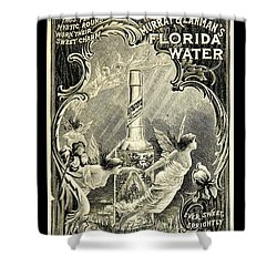Shower Curtain featuring the digital art Florida Water by ReInVintaged