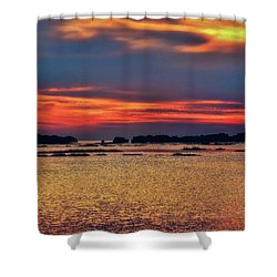 Shower Curtain featuring the photograph Florida West Coast  by Louis Ferreira