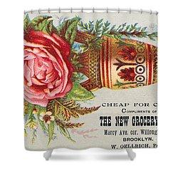 Florist Trade Card, C1890 Shower Curtain by Granger