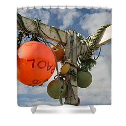 Shower Curtain featuring the photograph Flotsam And Jetsam by Brian Roscorla