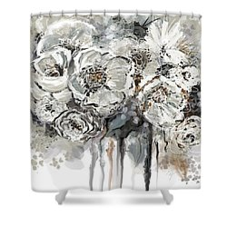 Floral Anxiety  Shower Curtain