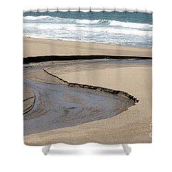 Flow - Scott Creek  Shower Curtain by Amanda Barcon