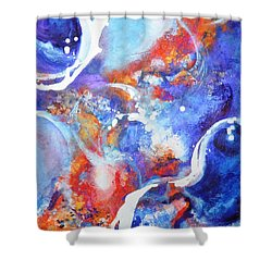 Flow Shower Curtain by Betty M M Wong