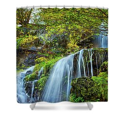 Flow Shower Curtain by John Poon