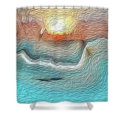 Flow Of Creation Shower Curtain