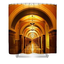 Flow Of Time Shower Curtain by Mitch Cat
