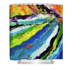 Flowage Shower Curtain by Everette McMahan jr