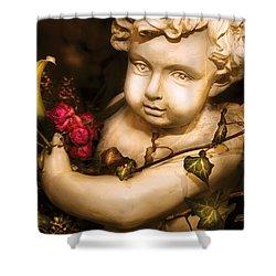 Flower - Rose - The Cherub  Shower Curtain by Mike Savad