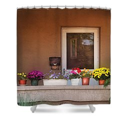 Flower - Still - Thinking Of Spring Shower Curtain by Mike Savad