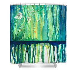 Flower #2 Shower Curtain by Rebecca Childs