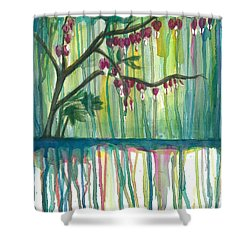 Flower #3 Shower Curtain by Rebecca Childs