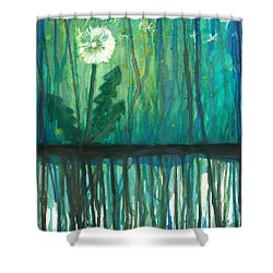 Flower #4 Shower Curtain by Rebecca Childs