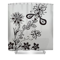 Flower 8 Shower Curtain