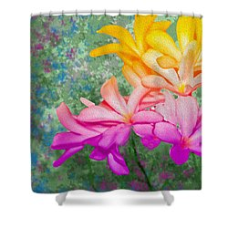 God Made Art In Flowers Shower Curtain