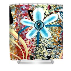 Flower And Ant Shower Curtain